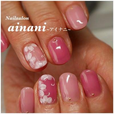 【お客様ネイル】2色のピンクを使ったフラワーネイル       宇都宮ネイルサロの記事に添付されている画像