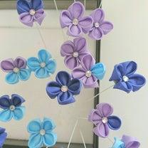 つまみ細工の紫陽花、制作中の記事に添付されている画像
