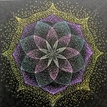 宙を奏でる点描曼荼羅画デビューしましたの記事に添付されている画像