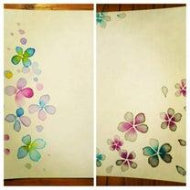 【生徒さんの作品】はまります!お花のにじみ♪の記事に添付されている画像