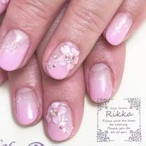 立体的な桜ネイル♡茨城県古河市 ネイルサロン リッカ ジェルネイル オフィスネイの記事に添付されている画像