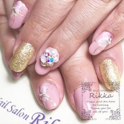 桜×3Dネイルアート♡茨城県古河市 ネイルサロン リッカ ジェルネイル 春ネイルの記事に添付されている画像