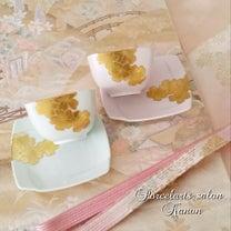 本金の手描き桜のお湯のみセット♡の記事に添付されている画像