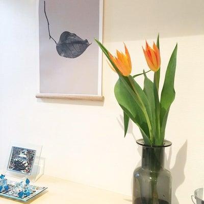 玄関のお花の記事に添付されている画像