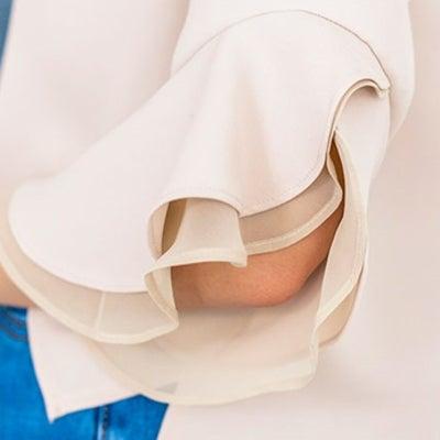 袖口フリルの内側をシフォンに!最強かわいいブラウス♡の記事に添付されている画像