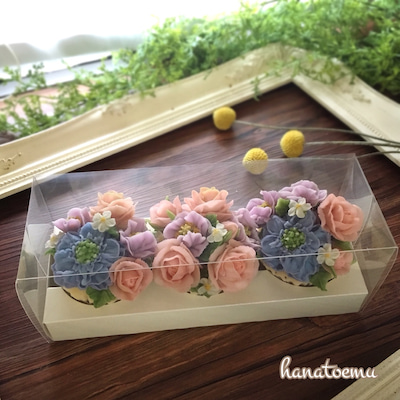 『お花+和菓子=最強のプレゼント♡』あんフラワーケーキに、想いを込めて♡の記事に添付されている画像