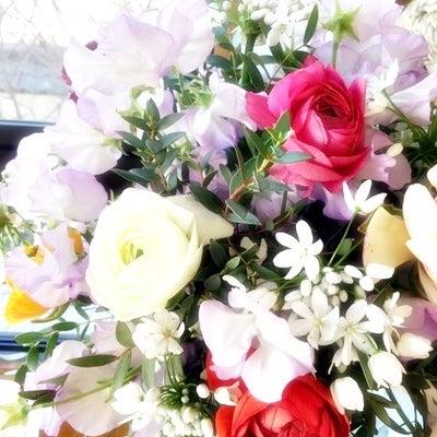 スイトピーの花束の記事に添付されている画像