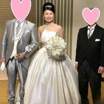 【41歳婚活】ウェディングドレスを着ました♡の記事に添付されている画像
