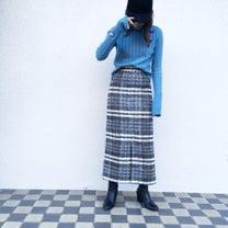 チェックタイトスカートコーデと、東京グルメの記事に添付されている画像