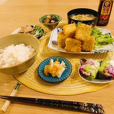 高野豆腐の大葉チーズフライの献立とアイスの記事に添付されている画像