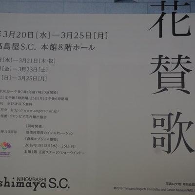日本橋高島屋~草月いけばな展/世界フィギュアスケート選手権2019/暖かの記事に添付されている画像