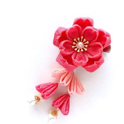 小さな八重桜の髪飾り♡の記事に添付されている画像