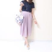 【UNIQLO】想像以上で大感激したプチプラT/フェミニンな軽さがお気に入りなスカート♪