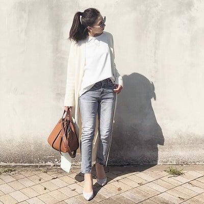 靴を引き立てるシンプルコーデの記事に添付されている画像