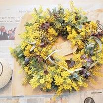 2019年3月 ミモザのリース*春分の日の記事に添付されている画像