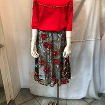 メッシュにお花刺繍スカート!の記事に添付されている画像