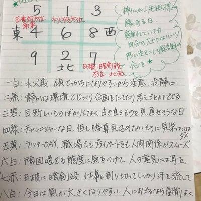 ★おやすみ前のノートから 3月21日の九星さん★の記事に添付されている画像