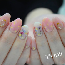 フラワーネイルとキャンペーンネイル☆の記事に添付されている画像