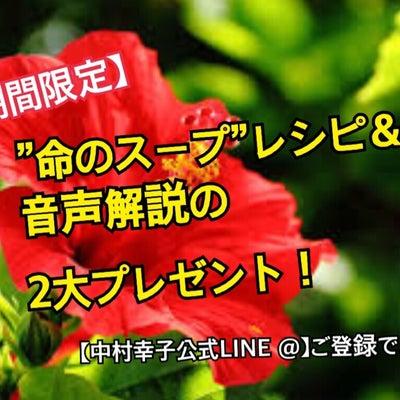 """【期間限定】中村幸子公式LINE@登録で「""""命のスープ""""レシピ&音声解説」の2大の記事に添付されている画像"""
