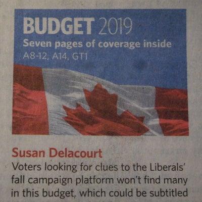 トロントの朝 3月20日 連邦予算にはガッカリ!?の記事に添付されている画像