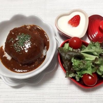 ハンバーグ丼♡京都で着物の記事に添付されている画像