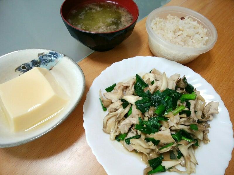 豚肉とニラの味噌炒めのお昼ご飯