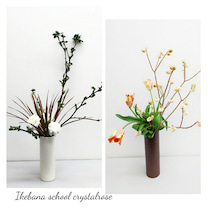 花壇の様なパラレルアレンジメント~フラワーアレンジメントレッスンの記事に添付されている画像