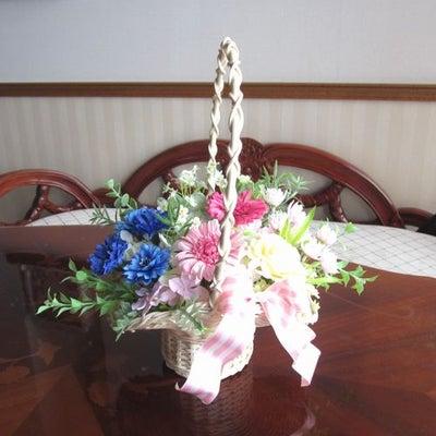 4月のマンスリーレッスン課題「お花いっぱいバスケット」♪の記事に添付されている画像