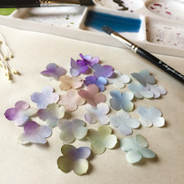 紫陽花のコサージュの記事に添付されている画像