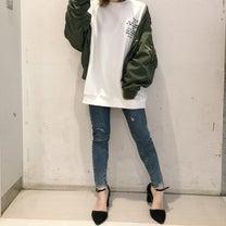 ショートMA-1 カラー別着用 yuriの記事に添付されている画像