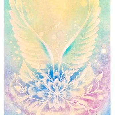 結晶の花、翼の花を描きました(*^_^*)の記事に添付されている画像