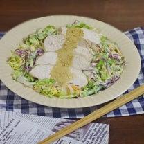 胡麻ドレかけ やわらか鶏むね肉と春野菜のコールスローサラダの記事に添付されている画像
