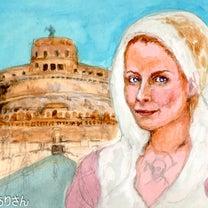 『ローマ:サンタンジェロ城』:アクリル画 着色の記事に添付されている画像