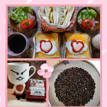 自家焙煎コーヒー&さくらブルボンコーヒー❤ホイップチョコバナナドッグで朝ごはん❤の記事に添付されている画像