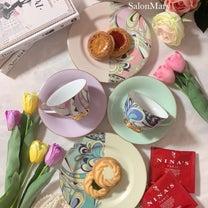 【フリーレッスン】華やかで可愛すぎる♡プッチ柄のティーセットの記事に添付されている画像