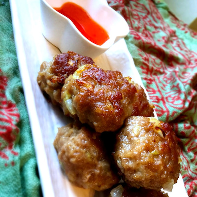 レシピ公開!簡単!激ウマ!タイ風・肉団子。焼きシュウマイ?の記事に添付されている画像
