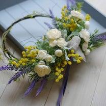 【募集/1Dayレッスン】春がいっぱい!ラナンキュラスとミモザのリースの記事に添付されている画像