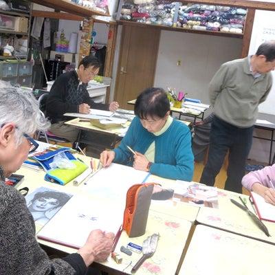 一般絵画 水彩画・水彩色鉛筆 JR八尾教室 金曜日 「人の顔を描く」の記事に添付されている画像