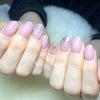 ペールピンクネイルの画像
