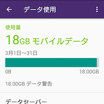 データ通信量既に18GBの記事に添付されている画像