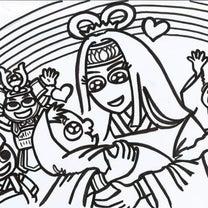 3/24(日)逗子トモイクフェスティバルでカミサマ紙芝居塗り絵ワークショップの記事に添付されている画像