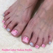 足元から春を感じます♡桜の開花が待ち遠しい「SAKURA」☆フットジェルの記事に添付されている画像