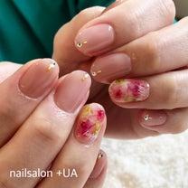 水彩画を指先に描いた春のお花ネイル 岐阜市ネイルサロンの記事に添付されている画像