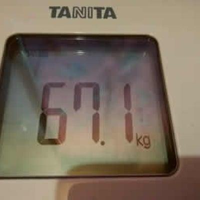 67日目 体重77.0kg⇒67.1kg体脂肪率21.3%⇒14.0%♪三角筋がの記事に添付されている画像