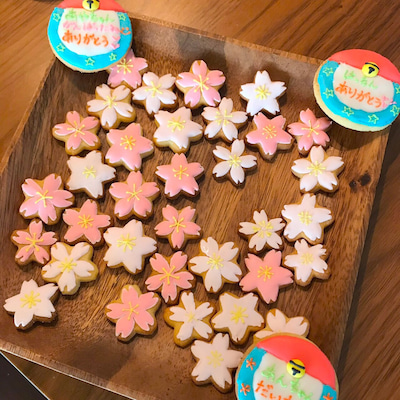 【プレゼントレポ】卒園アイシング♡男性が作るフラワーケーキの記事に添付されている画像
