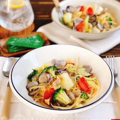 オススメのオイル!後がけオイルで、香りとコクがプラスの、具沢山野菜とアサリのスーの記事に添付されている画像