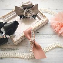 珍しいレザーリボンにキラキラを付けて♡  【LPC Leather Ribbonの記事に添付されている画像