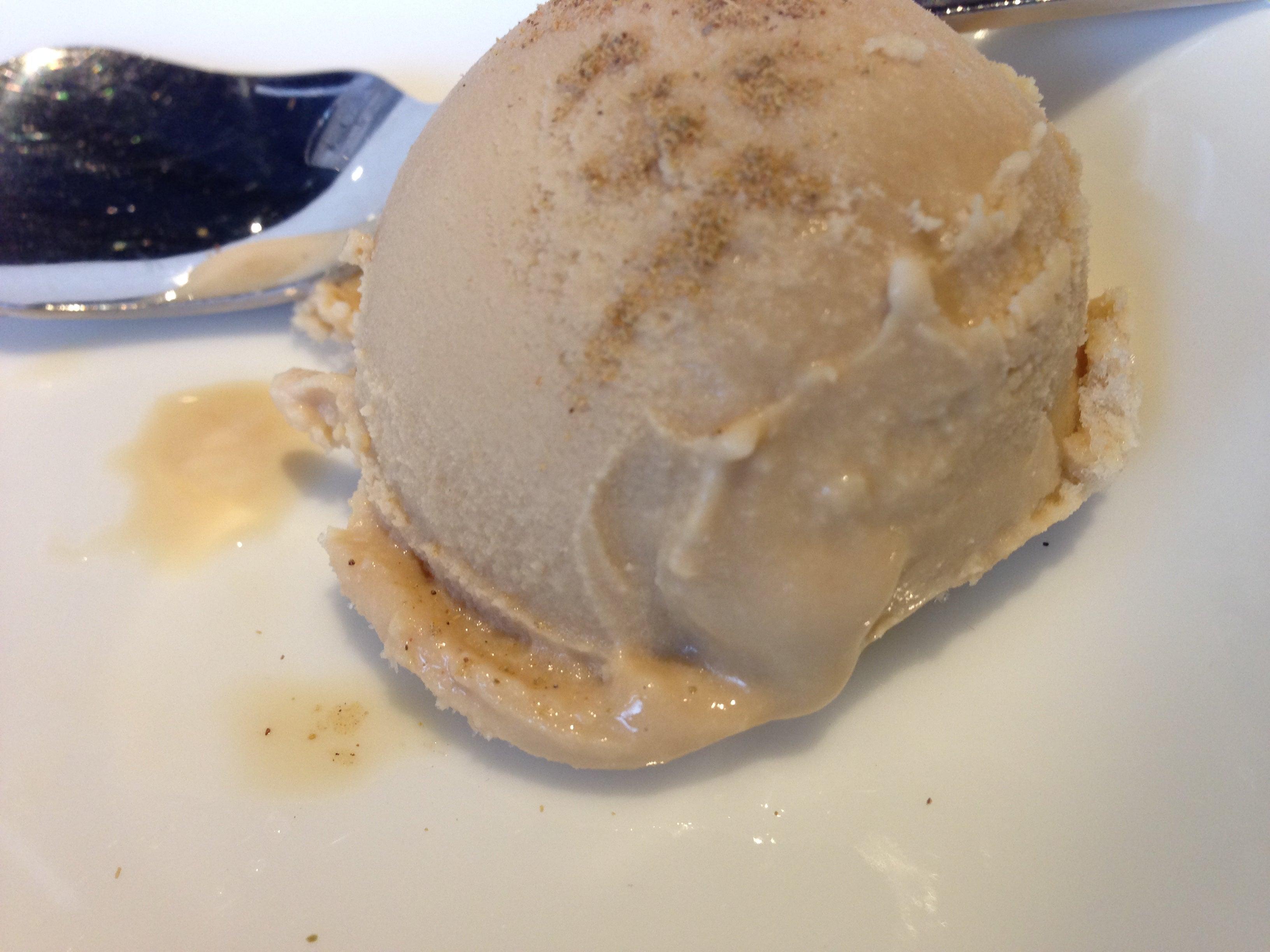 チャイのアイスクリーム