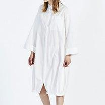 MIDIUMISOLID* バックギャザーロングシャツの記事に添付されている画像