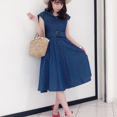 ラウンドカラーデニムワンピ♡♡の記事に添付されている画像